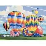 "Royal & Langnickel® Painting by Numbers™ 12 3/4 x 15 3/4 Adult Set Ballooning: 12 3/4"" x 15 3/4"""