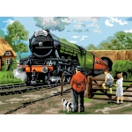 "Royal & Langnickel® Painting by Numbers™ 12 3/4 x 15 3/4 Adult Set Steam Train: 12 3/4"" x 15 3/4"""