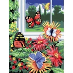 "Royal & Langnickel® Painting by Numbers™ 8 3/4 x 11 3/8 Junior Small Set Butterflies: 8 3/4"" x 11 3/8"", (model PJS17), price per set"
