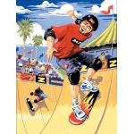 "Royal & Langnickel® Painting by Numbers™ 8 3/4 x 11 3/8 Junior Small Set Skateboarder: 8 3/4"" x 11 3/8"", (model PJS22), price per set"