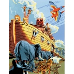 "Royal & Langnickel® Painting by Numbers™ 8 3/4 x 11 3/8 Junior Small Set Noah's Ark: 8 3/4"" x 11 3/8"", (model PJS23), price per set"