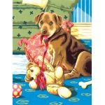 "Royal & Langnickel® Painting by Numbers™ 8 3/4 x 11 3/8 Junior Small Set Puppy & Teddybear: 8 3/4"" x 11 3/8"""