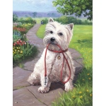 "Royal & Langnickel® Painting by Numbers™ 8 3/4 x 11 3/8 Junior Small Set Time For Walk: 8 3/4"" x 11 3/8"", (model PJS49), price per set"