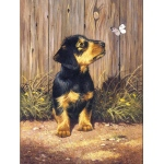 "Royal & Langnickel® Painting by Numbers™ 8 3/4 x 11 3/8 Junior Small Set Dachshund Pup: 8 3/4"" x 11 3/8"", (model PJS51), price per set"