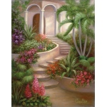 "Royal & Langnickel® Paint Your Own Masterpiece™ 11 x 14 Spanish Garden: 11"" x 14"", (model POM-SET11), price per set"