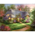 "Royal & Langnickel® Paint Your Own Masterpiece™ 11 x 14 Enchanted Cottage: 11"" x 14"", (model POM-SET16), price per set"