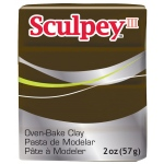 Sculpey® III Polymer Clay Suede Brown: Brown, Bar, Polymer, 2 oz, (model S3021109), price per each