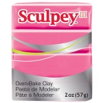 Sculpey® III Polymer Clay Candy Pink: Red/Pink, Bar, Polymer, 2 oz, (model S3021142), price per each