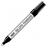 Pilot® Metallic Paint Marker Medium Silver: Metallic, Paint, Medium Nib, (model SC-SM), price per each