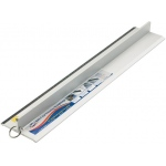 "Alvin® Safe-T-Cut 72"" Graduated Cutting Straightedge: Metallic, Aluminum, 72"", Straightedge"
