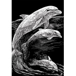 "Royal & Langnickel® Engraving Art Set Silver Foil Dolphins: 8"" x 10"", Metallic, (model SILF11), price per set"