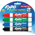 Expo Low Odor Dry Erase Marker 4-Piece Chisel Nib Set