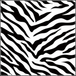 "The Crafter's Workshop 12"" x 12"" Design Template Zebra Print: 12"" x 12"", Patterned Stencil, (model TCW189), price per each"