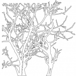 "The Crafter's Workshop 12"" x 12"" Design Template Branches: 12"" x 12"", Patterned Stencil, (model TCW208), price per each"
