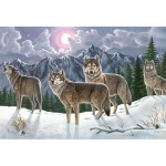 "Royal & Langnickel® Painting by Numbers™ 12 3/4 x 15 3/4 Adult Set Wolves: 12 3/4"" x 15 3/4"", (model PAL19), price per set"