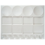 "Heritage Arts™ Extra Large Rectangular Palette: Plastic, 12 Wells, Rectangle, 10"" x 13"", (model XLGTRAY), price per each"