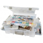 "ArtBin Super Satchel Lid/Divided Base Deluxe Translucent: 1 Compartment, 17.25"" x 16.75"" x 5"""