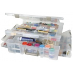 "ArtBin Super Satchel Lid/Divided Base Deluxe Translucent: 17.25"" x 16.75"" x 5"""
