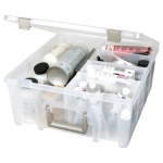 ArtBin Super Satchel with Removable Divider:  Double Deep, Transparent Clear