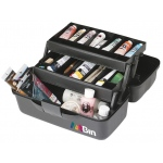 "ArtBin Essentials 2 Tray Box: Black, 13.5"" x 8.5"" x 7.5"""
