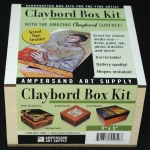 "Ampersand Claybord Smooth Box Kit: 5"" x 5"", Case of 4"