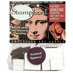 Ampersand Stampbord: Assorted Squares, Case of 10