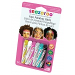 Snazaroo™ Face Painting 6-Stick Girl Set: Multi, Stick, (model 1160601), price per set