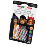 Snazaroo™ Face Painting 6-Stick Halloween Set: Multi, Stick