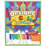Flying Frog Designs to Color Glitter Glue Original Activity Book: Multi, Children's Art Kit, (model FFD2CO-G), price per each