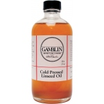 Gamblin Cold Pressed Linseed Oil 8oz: 8 oz, Linseed Oil, (model G07008), price per each
