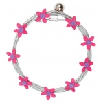 "Mishu Mighty Magnet Photo Cable Pink Flowers: Red/Pink, 57"", Flower, Cable, (model M083), price per each"