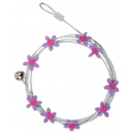 "Mishu Mighty Magnet Photo Cable Purple Flowers: Purple, 57"", Flower, Cable, (model M084), price per each"