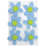 Mishu Mighty Magnets Blue Flowers: Blue, Flower, (model M085M6), price per pack