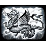 "Reeves™ Scraperfoil™ Scraperfoil Dragon: Metallic, 8"" x 10"", (model PPSF47), price per each"