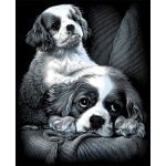 "Reeves™ Scraperfoil™ Scraperfoil Spaniels: Metallic, 8"" x 10"", (model PPSF29), price per each"
