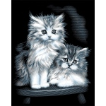 "Reeves™ Scraperfoil™ Scraperfoil Fluffy Kittens: Metallic, 8"" x 10"""