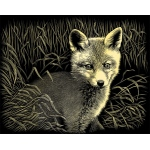 "Reeves™ Scraperfoil™ Gold Foil Fox Cub: Multi, 8"" x 10"", (model PPCF44), price per each"
