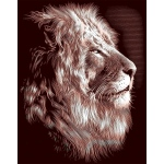 "Reeves™ Scraperfoil™ Gold Foil Lion: Multi, 8"" x 10"", (model PPCF30), price per each"