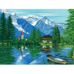 "Reeves™ Large Acrylic Painting By Numbers Set Woodland Chalet: 12"" x 15 1/2"""