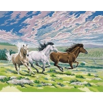"Reeves™ Large Acrylic Painting By Numbers Set Galloping Horse: 12"" x 15 1/2"""