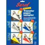 "Saral® 8.5"" x 11"" Wax-Free Transfer Paper Sampler: Multi, Sheet, 5 Sheets, 8 1/2"" x 11"", (model SARALSAMPLE), price per 5 Sheets"