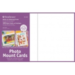 "Strathmore® Photo Mount Cards 100-Pack White: White/Ivory, Envelope Included, Card, 100 Cards, 5"" x 6 7/8"", 80 lb"