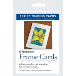 "Strathmore® 3.5"" x 4.875"" White Die Cut Window Artist Trading Card Frame Cards: White/Ivory, Artist Trading Card, 6 Cards, 3 1/2"" x 4 7/8"", (model ST105-912), price per 6 Cards"