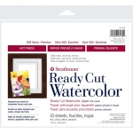 "Strathmore® 500 Series 8"" x 10"" Hot Press Ready Cut Watercolor Sheet Pack: White/Ivory, Sheet, 10 Sheets, 8"" x 10"", Hot Press, 140 lb"