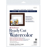 "Strathmore® 500 Series 11"" x 14"" Cold Press Ready Cut Watercolor Sheet Pack: White/Ivory, Sheet, 6 Sheets, 11"" x 14"", Cold Press, 140 lb, (model ST140-211), price per 6 Sheets"