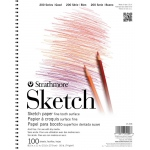"Strathmore® 200 Series 11"" x 14"" Wire Bound Sketch Pad: Wire Bound, White/Ivory, Pad, 100 Sheets, 11"" x 14"", 50 lb"