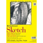 "Strathmore® 300 Series 14"" x 17"" Wire Bound Sketch Pad: Wire Bound, White/Ivory, Pad, 100 Sheets, 14"" x 17"", 50 lb"