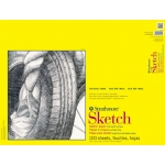"Strathmore® 300 Series 18"" x 24"" Glue Bound Sketch Pad: Glue Bound, White/Ivory, Pad, 100 Sheets, 18"" x 24"", 50 lb"