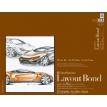 "Strathmore® 400 Series 19"" x 24"" Glue Bound Layout Bond Pad: Glue Bound, White/Ivory, Pad, 50 Sheets, 19"" x 24"", Layout Bond, 16 lb"