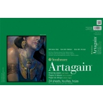 "Strathmore® Artagain® 400 Series 12"" x 18"" Coal Black Glue Bound Pad: Glue Bound, Black/Gray, Pad, 24 Sheets, 12"" x 18"", 60 lb"